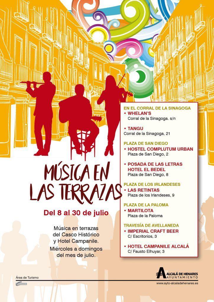Música en las terrazas de Alcalá de Henares cartel